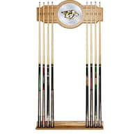 NHL Cue Rack with Mirror - Nashville Predators