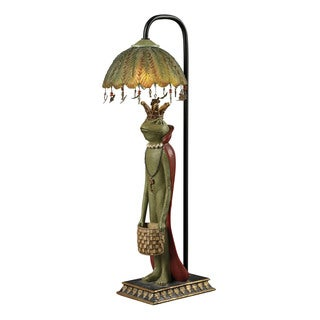 Sterling King Frog With Basket Accent Lamp