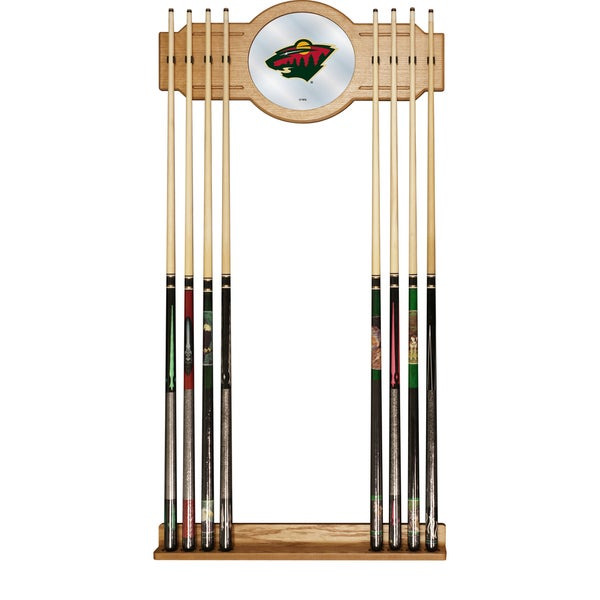 NHL Cue Rack with Mirror - Minnesota Wild