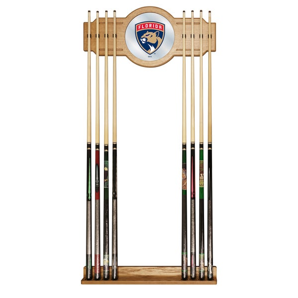 NHL Cue Rack with Mirror - Florida Panthers