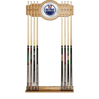 NHL Cue Rack with Mirror - Edmonton Oilers