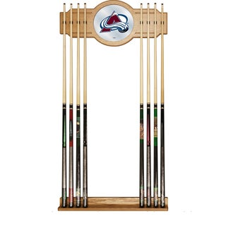 NHL Cue Rack with Mirror - Colorado Avalanche