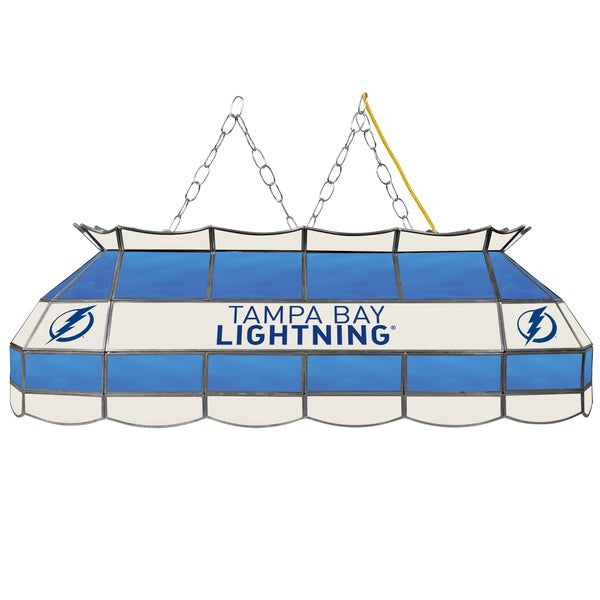 NHL Handmade Tiffany Style Lamp - 40 Inch - Tampa Bay Lightning