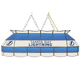 NHL Handmade Tiffany Style Lamp - 40 Inch - Tampa Bay Lightning