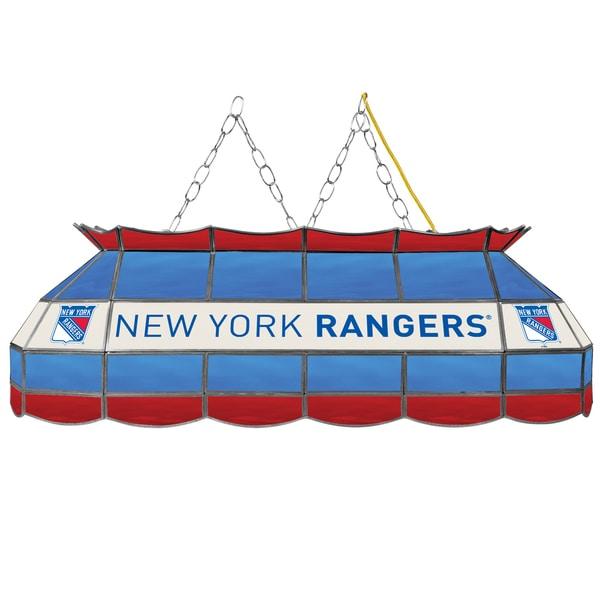 NHL Handmade Tiffany Style Lamp - 40 Inch - New York Rangers