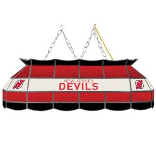 NHL Handmade Tiffany Style Lamp - 40 Inch - New Jersey Devils