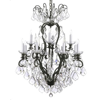 Versailles Wrought Iron and Crystal 12-light Chandelier