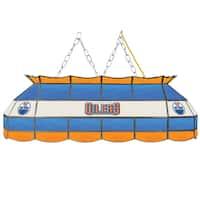 NHL  Handmade Tiffany Style Lamp - 40 Inch - Edmonton Oilers