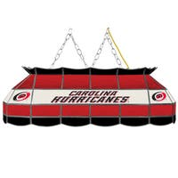 NHL  Handmade Tiffany Style Lamp - 40 Inch - Carolina Hurricanes