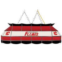 NHL  Handmade Tiffany Style Lamp - 40 Inch - Calgary Flames