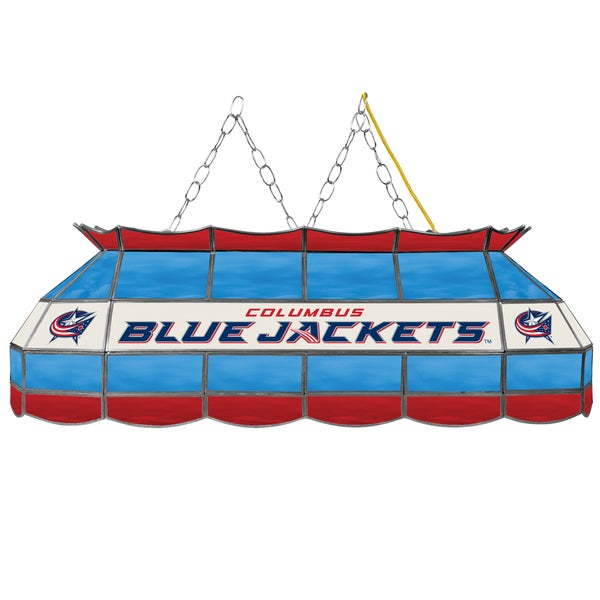 NHL  Handmade Tiffany Style Lamp - 40 Inch - Columbus Blue Jackets