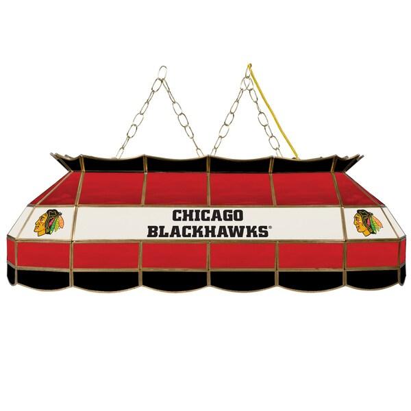 NHL Handmade Tiffany Style Lamp - 40 Inch - Chicago Blackhawks