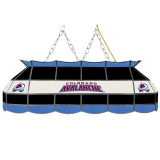 NHL Handmade Tiffany Style Lamp - 40 Inch - Colorado Avalanche