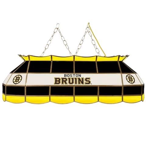 NHL Handmade Tiffany Style Lamp - 40 Inch - Boston Bruins