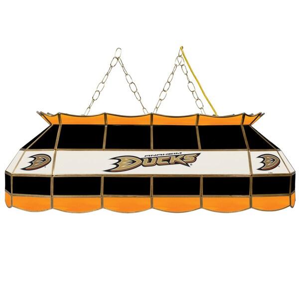 NHL  Handmade Tiffany Style Lamp - 40 Inch - Anaheim Ducks