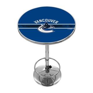 NHL Chrome Pub Table - Vancouver Canucks