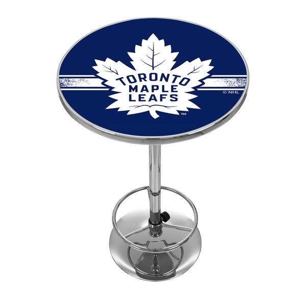 NHL Chrome Pub Table - Toronto Maple Leafs