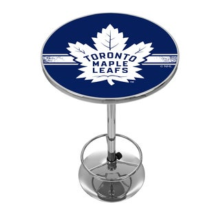 NHL Chrome Pub Table - Toronto Maple Leafs
