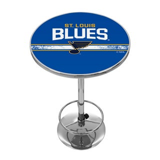 NHL Chrome Pub Table - St. Louis Blues