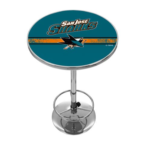 NHL Chrome Pub Table - San Jose Sharks