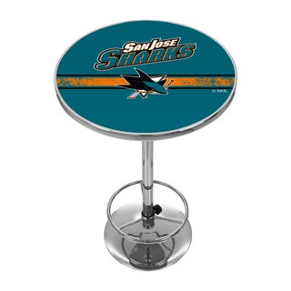 NHL Chrome Pub Table - San Jose Sharks
