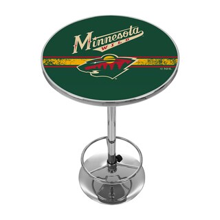 NHL Chrome Pub Table - Minnesota Wild