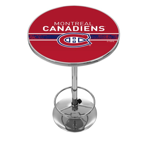 NHL Chrome Pub Table - Montreal Canadiens