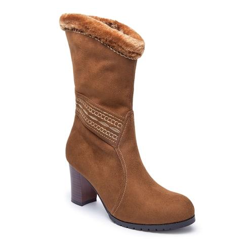 Ann Creek Women's 'Rubus' Fur Trim Slouch Boots