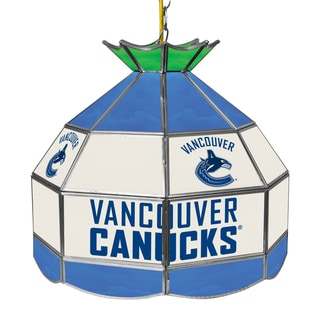 NHL 16 Inch Handmade Tiffany Style Lamp - Vancouver Canucks