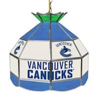 NHL 16 Inch Handmade Tiffany Style Lamp - Vancouver Canucks
