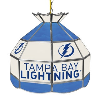 NHL 16 Inch Handmade Tiffany Style Lamp - Tampa Bay Lightning
