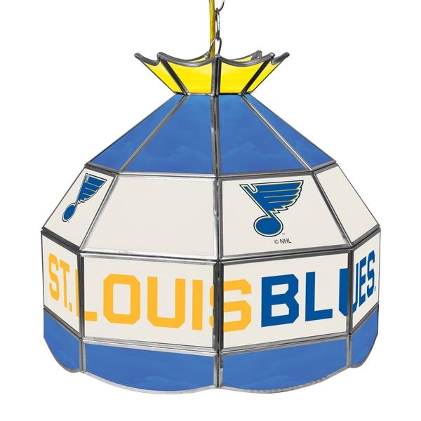 NHL 16 Inch Handmade Tiffany Style Lamp - St. Louis Blues