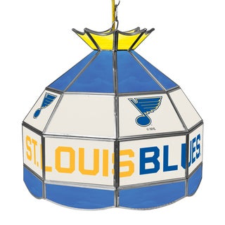 NHL 16 Inch Handmade Tiffany Style Lamp - St. Louis Blues