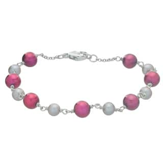 Pearls For You Sterling Silver Dyed Grey & Cranberry 7.5-inch Bracelet (5-5.5 mm, 6.5-7 mm)|https://ak1.ostkcdn.com/images/products/10746118/P17801134.jpg?impolicy=medium