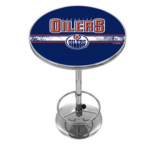 NHL Chrome Pub Table - Edmonton Oilers