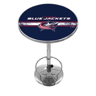 NHL Chrome Pub Table - Columbus Blue Jackets