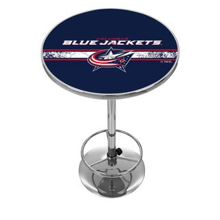 NHL Chrome Pub Table - Columbus Blue Jackets