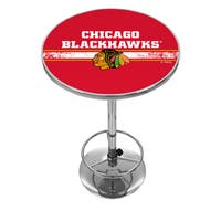 NHL Chrome Pub Table - Chicago Blackhawks