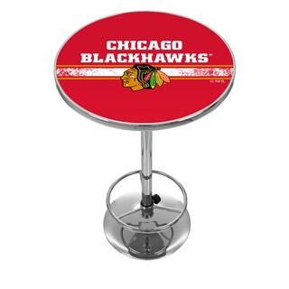 NHL Chrome Pub Table - Chicago Blackhawks