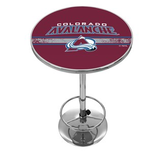 NHL Chrome Pub Table - Colorado Avalanche