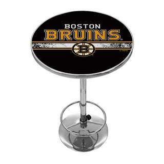 NHL Chrome Pub Table - Boston Bruins
