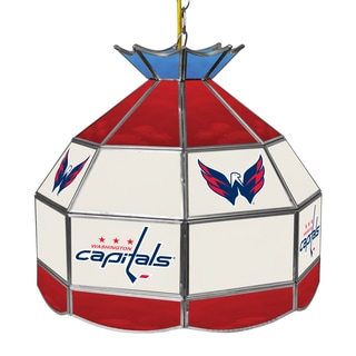 NHL 16 Inch Handmade Tiffany Style Lamp - Washington Capitals