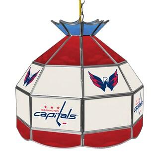 NHL 16 Inch Handmade Tiffany Style Lamp - Washington Capitals