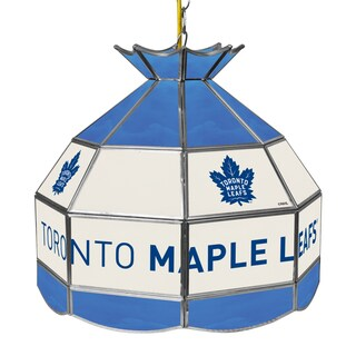 NHL 16 Inch Handmade Tiffany Style Lamp - Toronto Maple Leaf