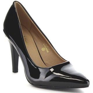 BELLA MARIE LORY-1 Women's Pointed Toe Slip On Office Dress Pumps