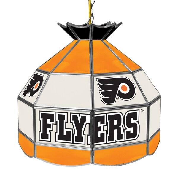 NHL 16 Inch Handmade Tiffany Style Lamp - Philadelphia Flyers