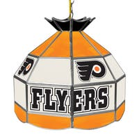 NHL 16 Inch Handmade Tiffany Style Lamp - Philadelphia Flyers