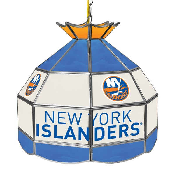 NHL 16 Inch Handmade Tiffany Style Lamp - New York Islanders