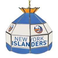 NHL 16 Inch Handmade Tiffany Style Lamp - New York Islanders