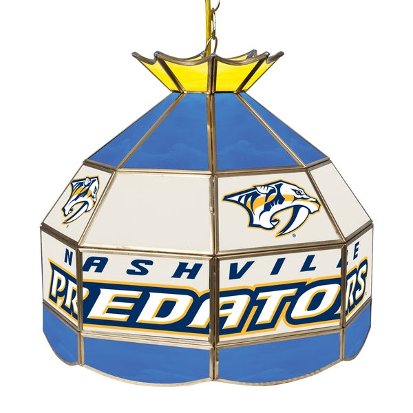 NHL 16 Inch Handmade Tiffany Style Lamp - Nashville Predators